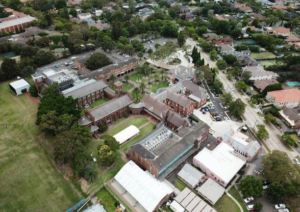 Toàn cảnh khuôn viên trường ACU chụp từ trên cao