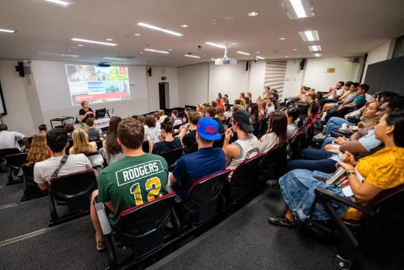 Không khí một lớp học tại trường Đại học Murdoch
